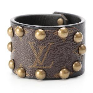 Authentic Vintage LOUIS VUITTON Studded Leather Cuff